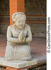 Woman statue in Hindu temple