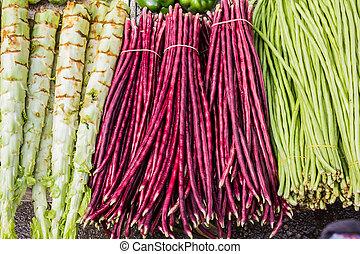 蔬菜, 新鮮, 市場, 組, 中國