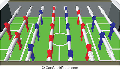 Stock Illustration of Foosball Soccer Table Game isolated on white ...