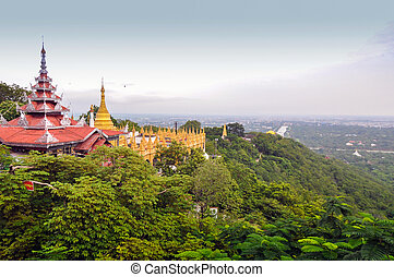 Mandalay Hill in Myanmar - Mandalay Hill is a major...