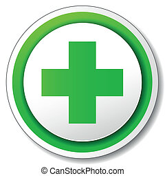 Vector pharmacy cross icon - Vector illustration of pharmacy...