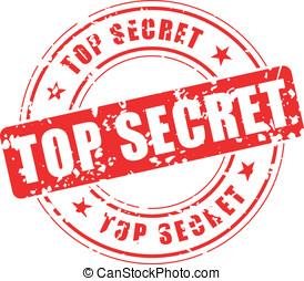 Top secret stamp - Vector illustration of top secret stamp...