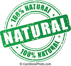 Vector natural stamp - Vector illustration of green natural...