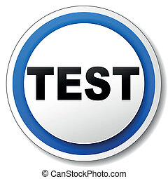 Vector test icon - Vector illustration of black and blue...