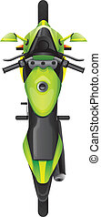 A topview of a motorcycle - Illustration of a topview of a...