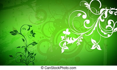 vector flowers 2 loop