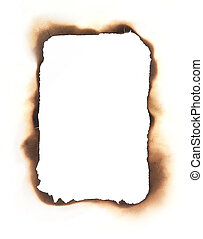 Rectangular Burned Edges Frame - The charred edges of a...