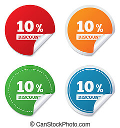 10 percent discount sign icon Sale symbol Special offer...
