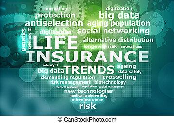 vida, seguro, tendências