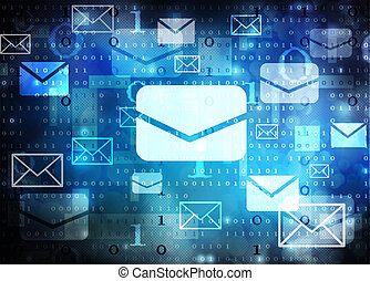 email abstract background