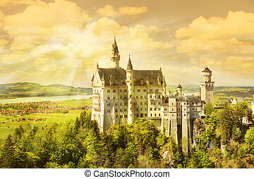 neuschwanstein sunset