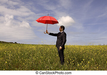Insurance agent - a insurance agent businessman in the...