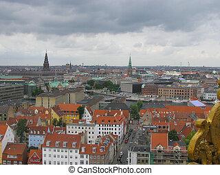 Copenhagen Denmark - View of the city of Copenhagen in...