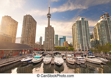 Harbourfront in downtown Toronto - View of the harbour front...
