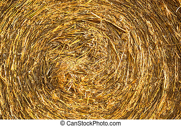 Hay bale background - A twisted hay bale background