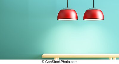 lamp and table of interior decorate