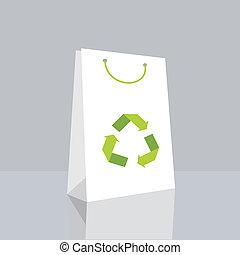 リサイクルしなさい, 袋, シンボル, 買い物