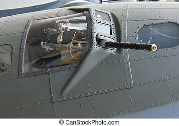 Gun turret from B17 Flying Fortress. WW2 US Bomber.