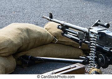 Machine gun - British Army machine gun emplacement