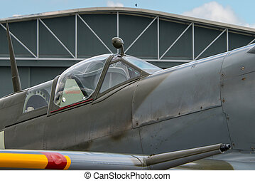Aircraft cockpit - Cockpit of British World War 2 Spitfire...