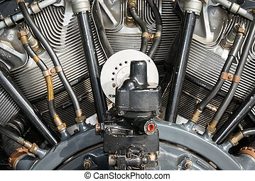 Radial aero engine close detail