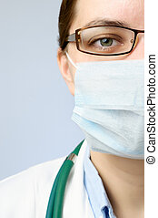 Doctor wearing protective mask
