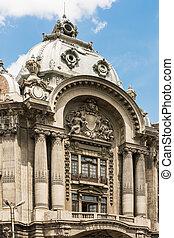 Classic Retro Architecture In Bucharest, Romania.