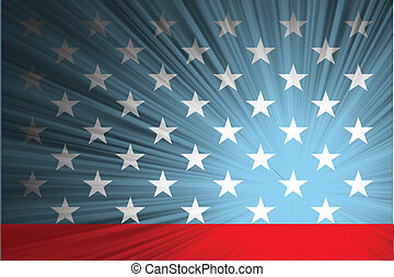 American flag with the rays