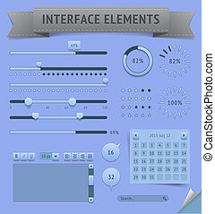 User interface elements Vector saved as EPS-10, file...