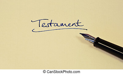 testament - writing down a testament on a piece of paper