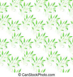 hojas, verde,  seamless, Plano de fondo