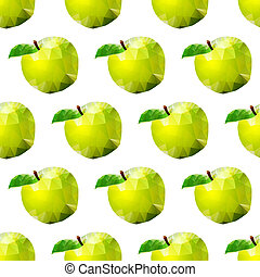 abstract seamless background with apples