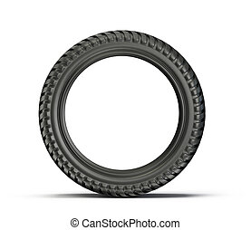 tyre - sport tyre isolated on a white background