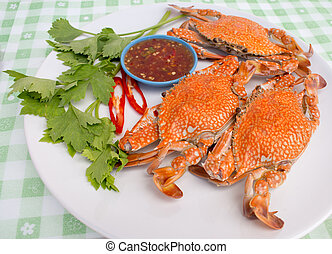 boiled crabs - crab cooked in white dish