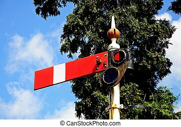 Railway semaphore signal - Semaphore signal showing the...