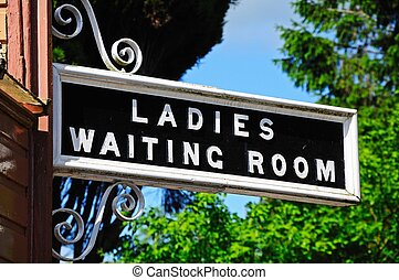 Ladies Waiting Room sign - Ladies and Waiting Room Sign,...