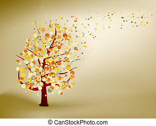 Abstract natural autumn background. EPS 8