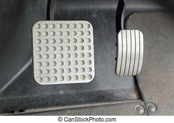 Brake and accelerator pedal for cars. - Brake and...