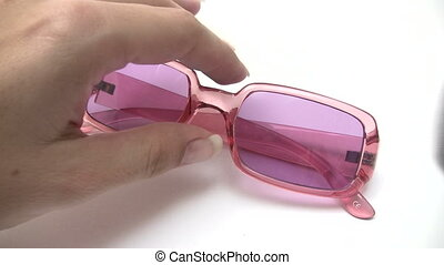 Cleaning Pink Sunglasses