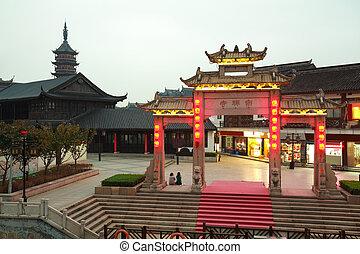 Wuxi Nanchan Temple night in jiangsu