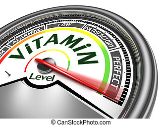 vitamin level conceptual meter