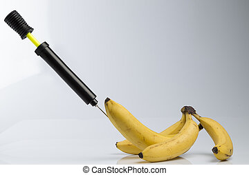 Bananas and bicycle pump
