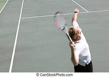 Tennis Serve Motion Blur