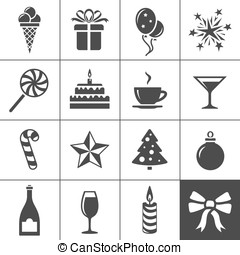Holidays and event icons Simplus series Vector illustration...