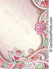 Abstract Pink Floral Background - Illustration of abstract...
