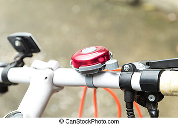 red bicycle bell  - red bicycle bell