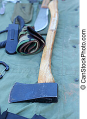 axe with wooden handle for sale