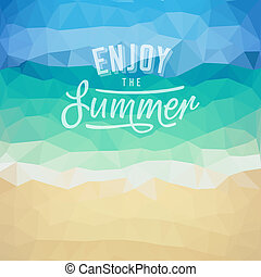 Summer holiday tropical beach background - Enjoy the summer....