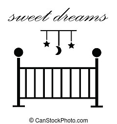 Sweet Dreams Baby Crib - Sweet dreams baby crib and mobile