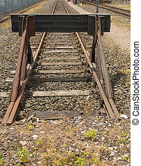 Track Ends - Buffers set at the end of a railroad spur line